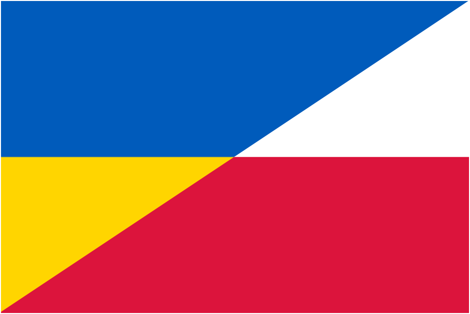 ukraine poland flags